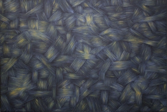 Gray & Gold, 2015, oil color on canvas, 167 x 113 cm