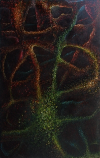 It Came From My Brain, 2017, dry pastel on board, 82 x 129 cm