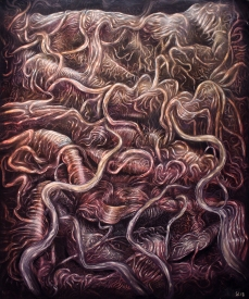 Malignant, 2018, oil color on canvas, 150 x 180 cm