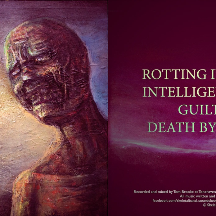 Skeletal - Rotten Inside Out, ep cover art and layout, 2013
