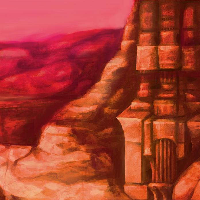 Hidden Temple, 2019, digital painting