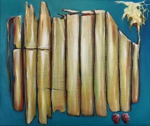 Plastic Torture, 2020, oil on canvas, 55 x 46 cm
